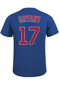 Kris Bryant Chicago Cubs Majestic Threads Name And Number T-Shirt - Blue