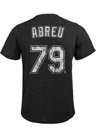 Jose Abreu Chicago White Sox Majestic Threads Name And Number T-Shirt - Black