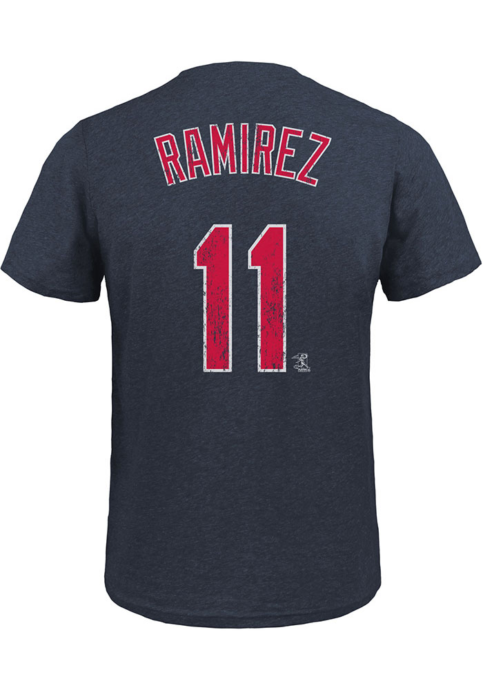 info for 8739d e84f5 Jose Ramirez Cleveland Indians Navy Blue Triblend N & N Short Sleeve  Fashion Player T Shirt