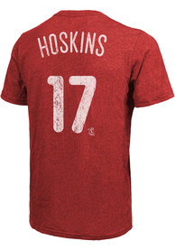 Rhys Hoskins Philadelphia Phillies Majestic Threads Name And Number T-Shirt - Red