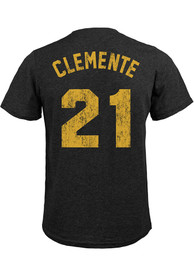 Roberto Clemente Pittsburgh Pirates Majestic Threads Name And Number T-Shirt - Black