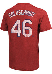 Paul Goldschmidt St Louis Cardinals Majestic Threads Name And Number T-Shirt - Red