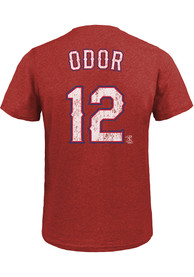 Rougned Odor Texas Rangers Majestic Threads Name And Number T-Shirt - Red