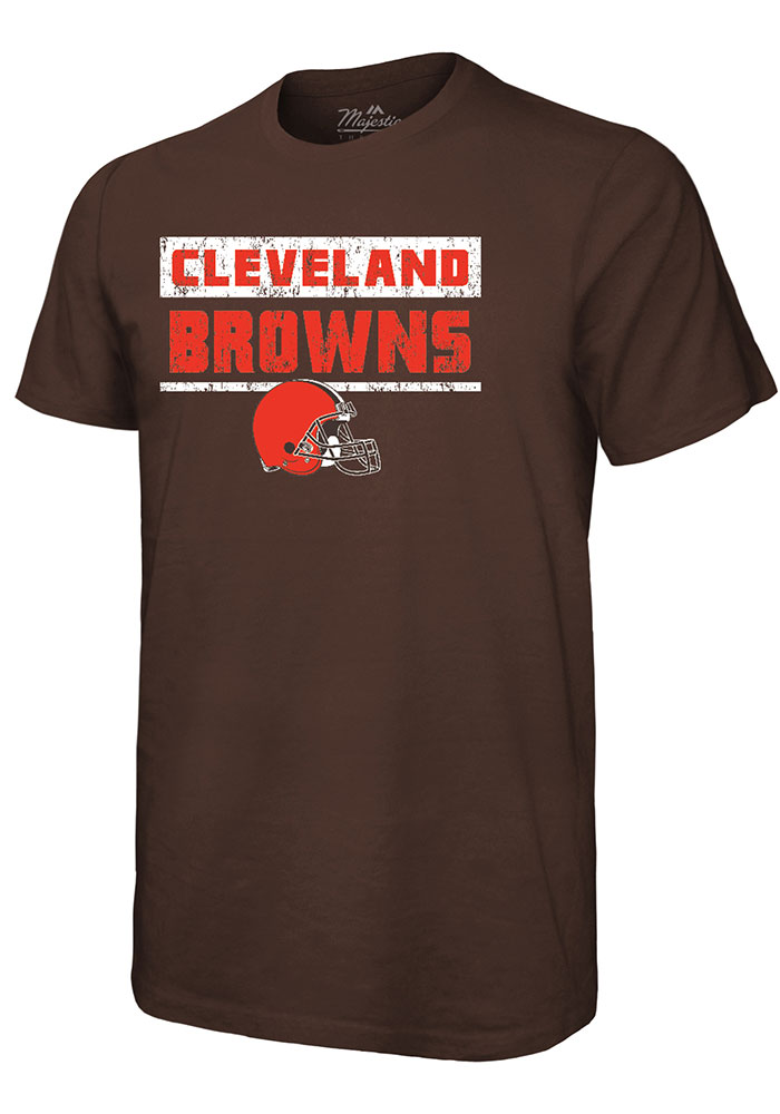 Cleveland Browns Brown Pastime Short Sleeve Fashion T Shirt - Image 1