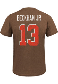 Odell Beckham Jr Cleveland Browns Majestic Threads Name And Number T-Shirt - Brown