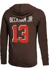 Odell Beckham Jr Cleveland Browns Majestic Threads Name And Number Long Sleeve T-Shirt - Brown