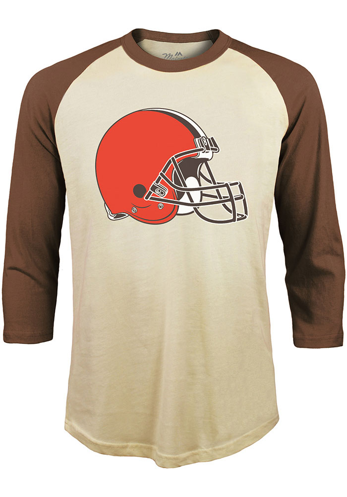 Odell Beckham Jr. # Cleveland Browns White Majestic Threads N & N Long Sleeve Fashion T Shirt - Image 2