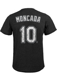 Yoan Moncada Chicago White Sox Majestic Threads Name And Number T-Shirt - Black