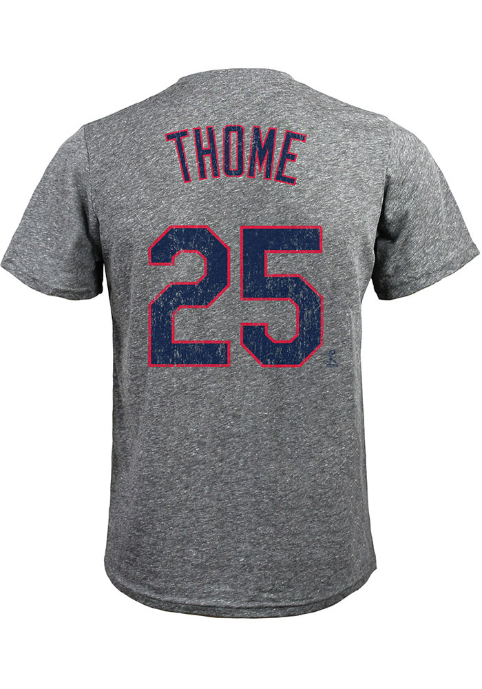 brand new b68c3 f5459 Jim Thome Cleveland Indians Grey Road Jersey Short Sleeve Fashion Player T  Shirt
