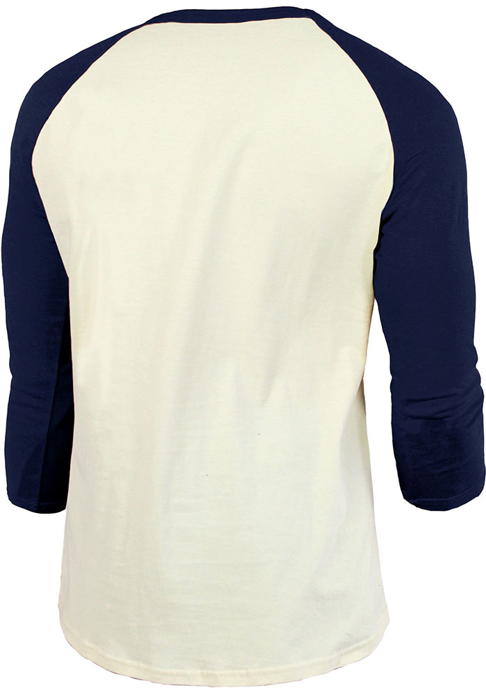 Cleveland Indians White Cooperstown Raglan Long Sleeve Fashion T Shirt - Image 2