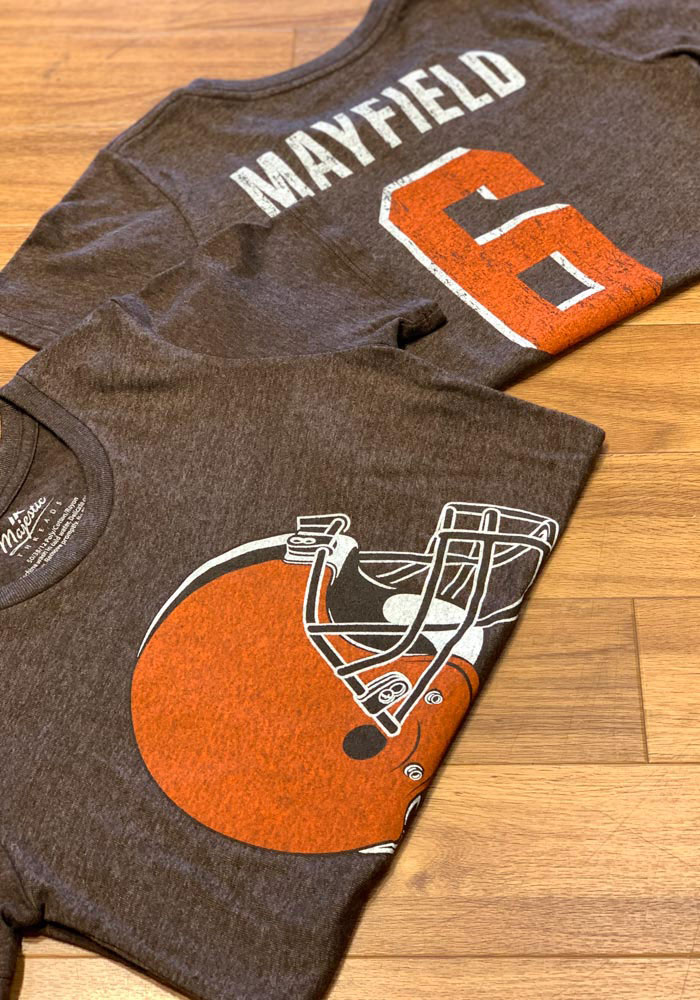 Baker Mayfield Cleveland Browns Womens Brown N&N Triblend Player T-Shirt - Image 3