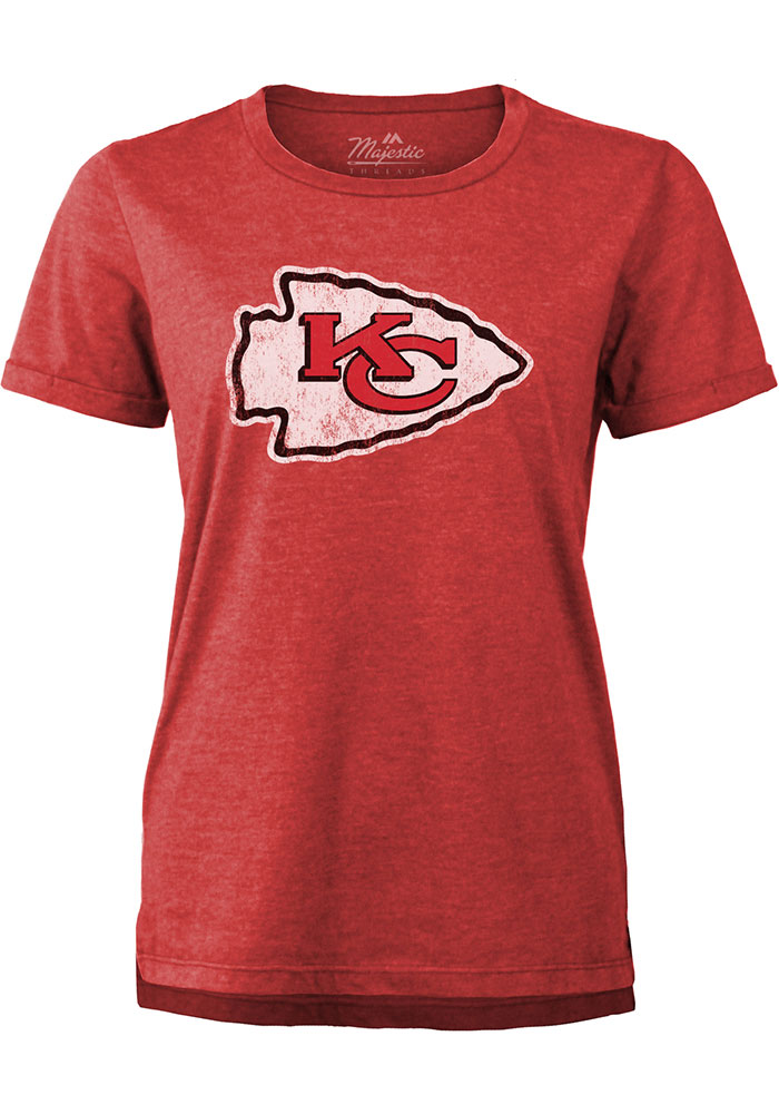Patrick Mahomes Kansas City Chiefs Womens Red Boyfriend Player T-Shirt - Image 2