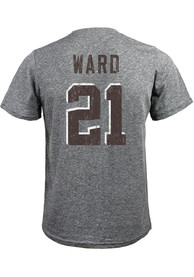 Denzel Ward Cleveland Browns Majestic Threads Name And Number T-Shirt - Grey