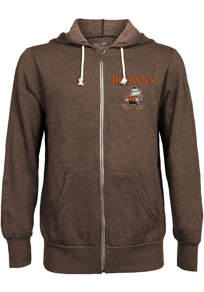 Cleveland Browns Mens Brown Brownie Long Sleeve Zip Fashion - Image 1