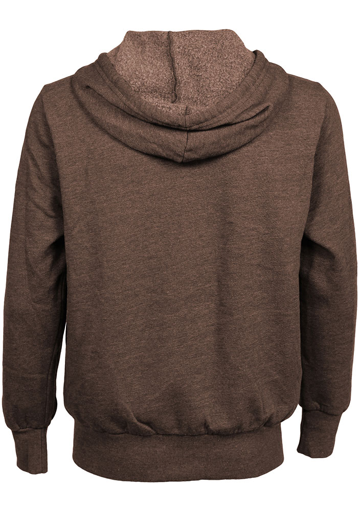 Cleveland Browns Mens Brown Brownie Long Sleeve Zip Fashion - Image 2