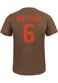 Baker Mayfield Cleveland Browns Majestic Threads Name And Number T-Shirt - Brown