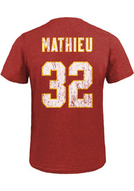 Tyrann Mathieu Kansas City Chiefs Majestic Threads Name And Number T-Shirt - Red