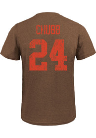 Nick Chubb Cleveland Browns Majestic Threads Name And Number T-Shirt - Brown