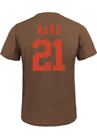 Denzel Ward Cleveland Browns Majestic Threads Name And Number T-Shirt - Brown
