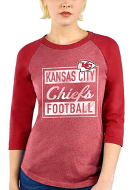 Kansas City Chiefs Womens Square Script T-Shirt - Red