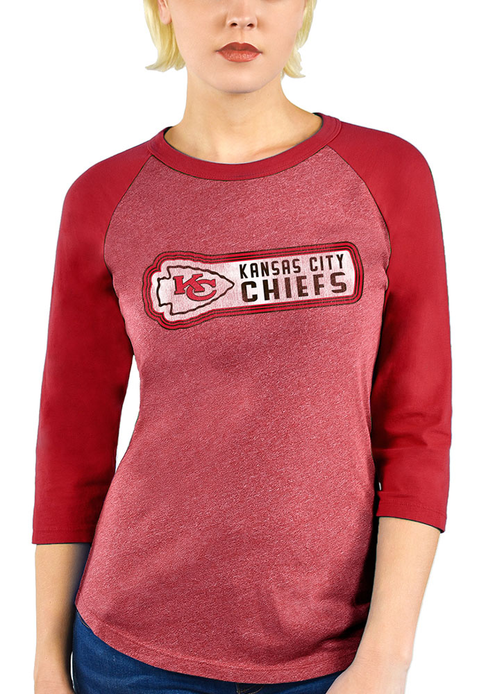 Kansas City Chiefs Womens Red Out of Sight LS Tee - Image 1