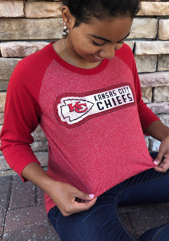 Kansas City Chiefs Womens Red Out of Sight LS Tee - Image 2