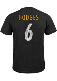 Devlin Hodges Pittsburgh Steelers Majestic Threads Name And Number T-Shirt - Black