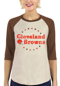 Cleveland Browns Womens Stars T-Shirt - Brown