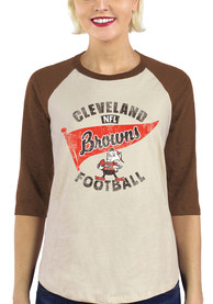 Cleveland Browns Womens Flag T-Shirt - Brown
