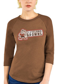 Cleveland Browns Womens Out of Sight T-Shirt - Brown