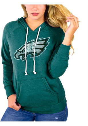 Philadelphia Eagles Womens Midnight Green Primary Logo Hoodie a2dc638c15