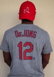Paul DeJong St Louis Cardinals Grey Name and Number Fashion Tee