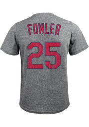 Dexter Fowler St Louis Cardinals Grey Name and Number Fashion Tee