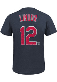 Francisco Lindor Cleveland Indians Red Name and Number Fashion Tee