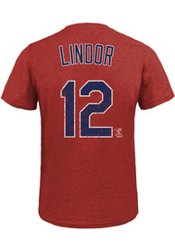 Francisco Lindor Cleveland Indians Navy Blue Name and Number Fashion Tee