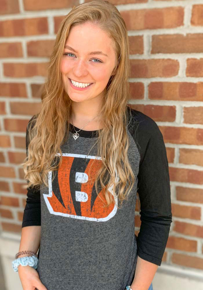 Joe Burrow Cincinnati Bengals Womens Black Triblend Long Sleeve Player T Shirt - Image 3
