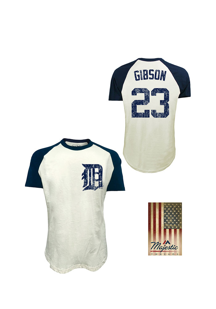 reputable site d11ee c4795 Kirk Gibson Detroit Tigers White Retired Short Sleeve Fashion Player T Shirt