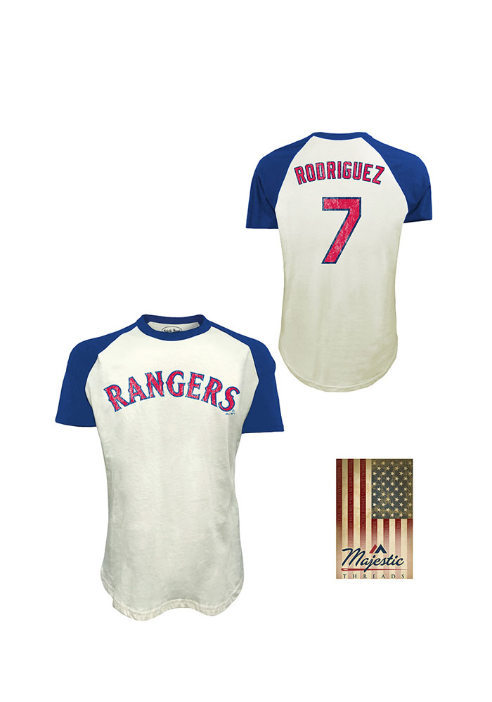 buy online 6e4fa 0589c Ivan Rodriguez Texas Rangers White Retired Short Sleeve Fashion Player T  Shirt