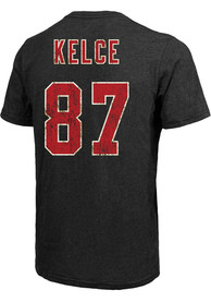 Travis Kelce Kansas City Chiefs Majestic Threads Name and Number T-Shirt - Black