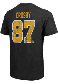Sidney Crosby Pittsburgh Penguins Majestic Threads Primary Player T-Shirt - Black
