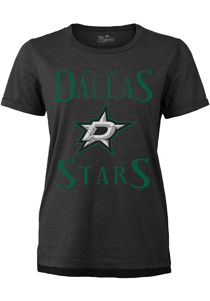 Dallas Stars Womens Black Triblend Short Sleeve T-Shirt - Image 1