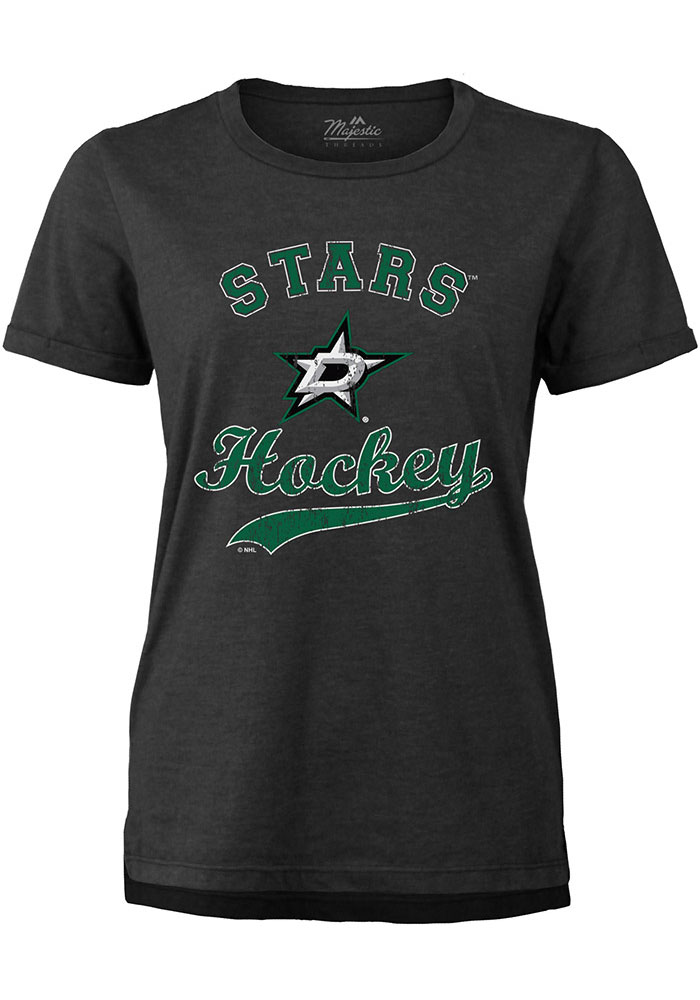 Dallas Stars Womens Triblend T-Shirt - Black
