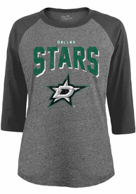 Dallas Stars Womens Raglan T-Shirt - Grey