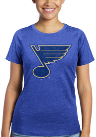 St Louis Blues Womens Triblend Crew Neck T-Shirt - Blue