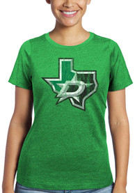 Dallas Stars Womens Triblend Crew Neck T-Shirt - Green