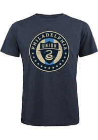 Philadelphia Union Team logo Fashion T Shirt - Navy Blue
