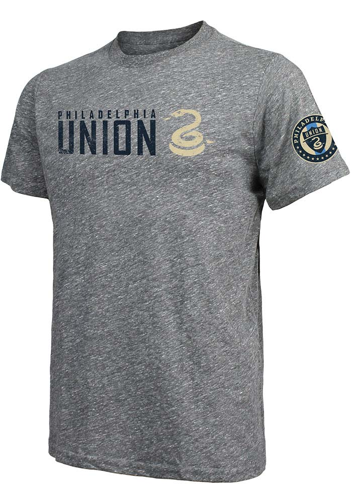 Philadelphia Union Grey Wordmark Short Sleeve Fashion T Shirt - Image 1