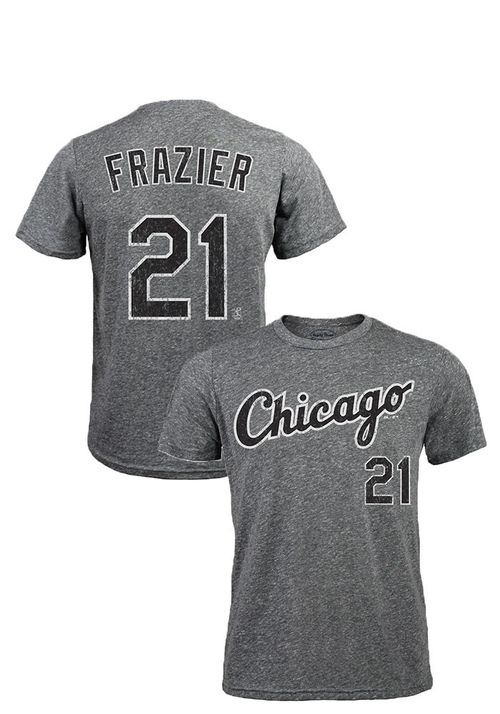 Todd Frazier Chicago White Sox Mens Grey Distressed Short Sleeve Fashion Player T Shirt - Image 1