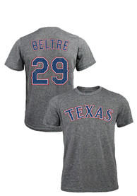 Adrian Beltre Texas Rangers Grey Distressed Fashion Player Tee
