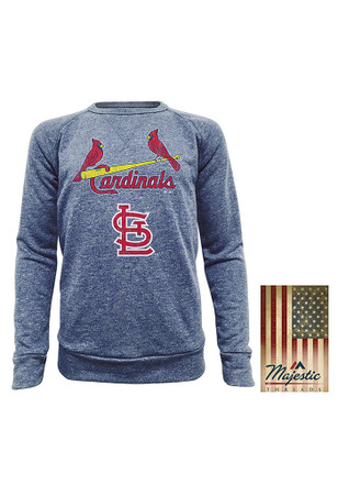 St Louis Cardinals Mens Navy Blue Dyed French Terry Fashion Sweatshirt
